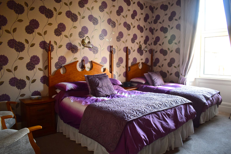 Double bed and breakfast room at Gifford House Edinburgh